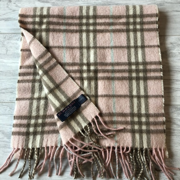 Burberry London Pink Cashmere Scarf